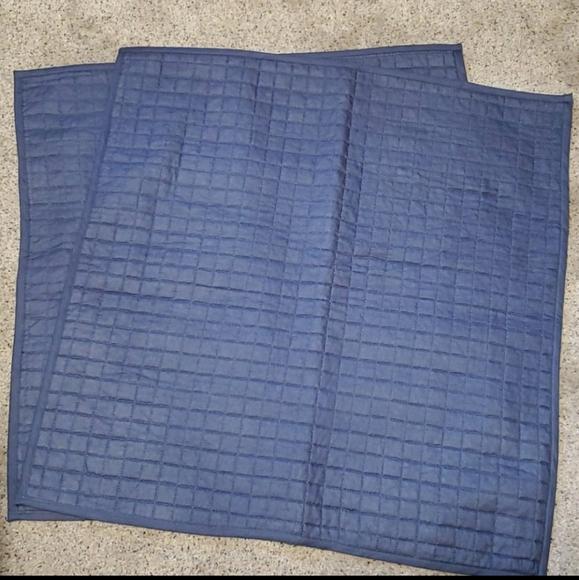 Nwot navy blue pillow shams set of 2